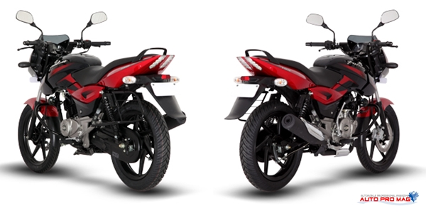 red black pulsar 150 back rear