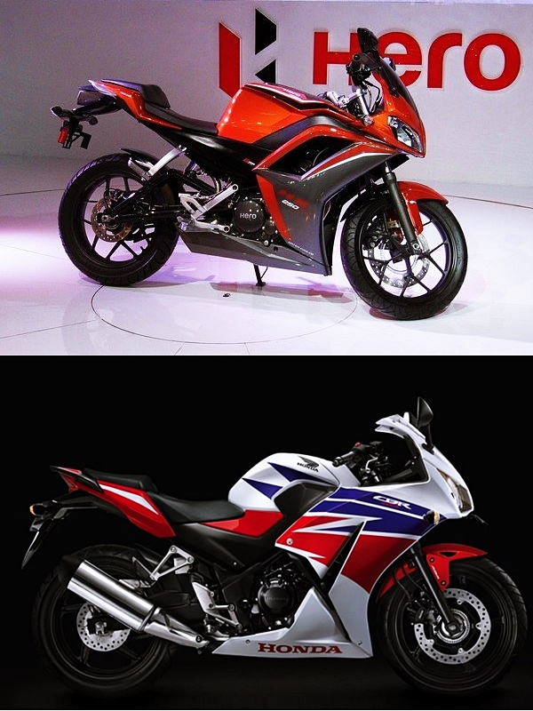 side hx250 vs cbr 250