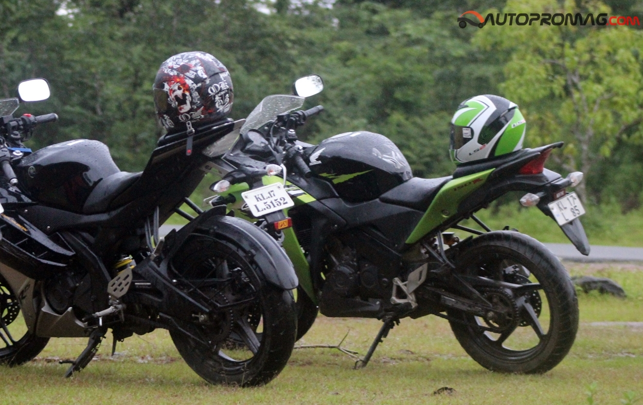rear honda cbr 150r vs yamaha R15