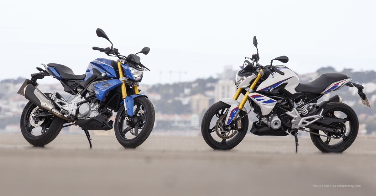 2018 bmw g301r blue white