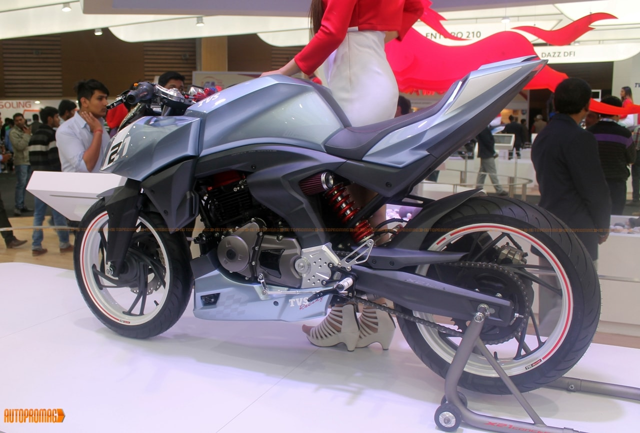 Tvs x21 concept showcased price and launch in india specification features