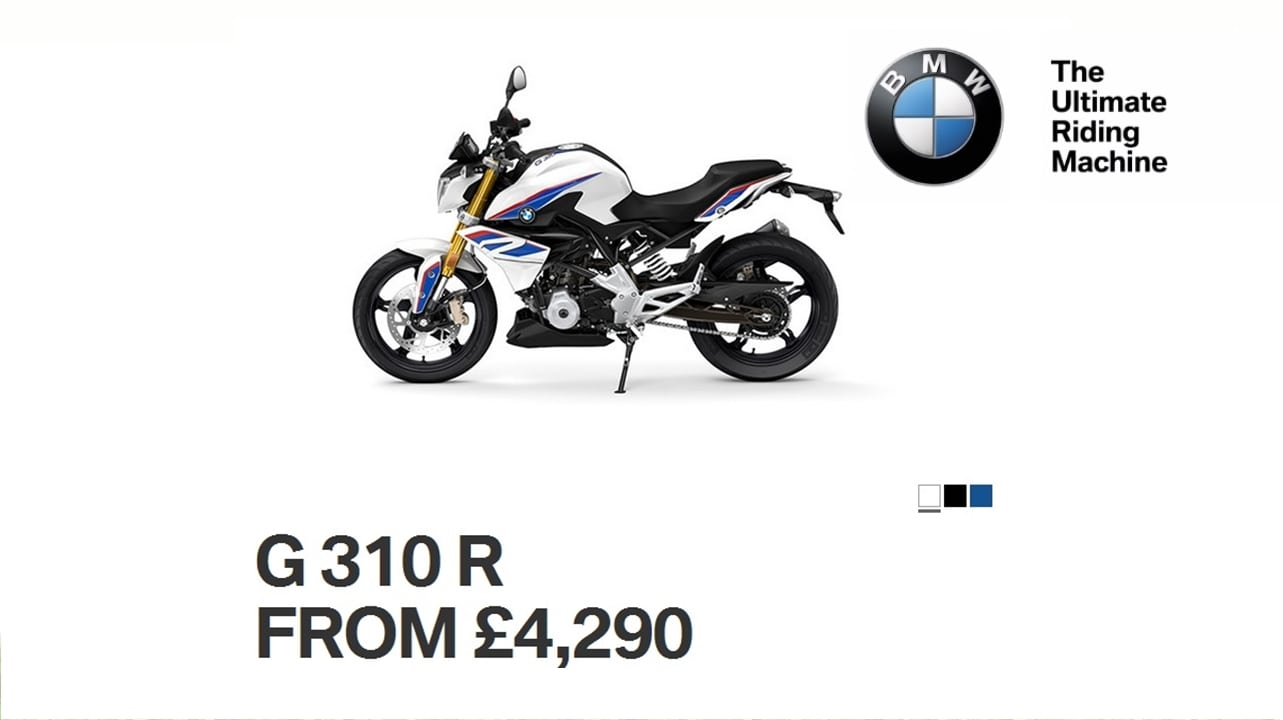 bmw g310r price official