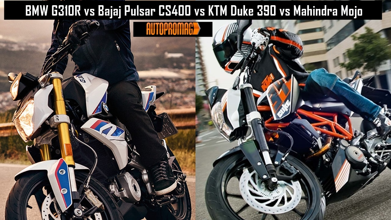 BMW G310R vs KTM Duke 390 compare