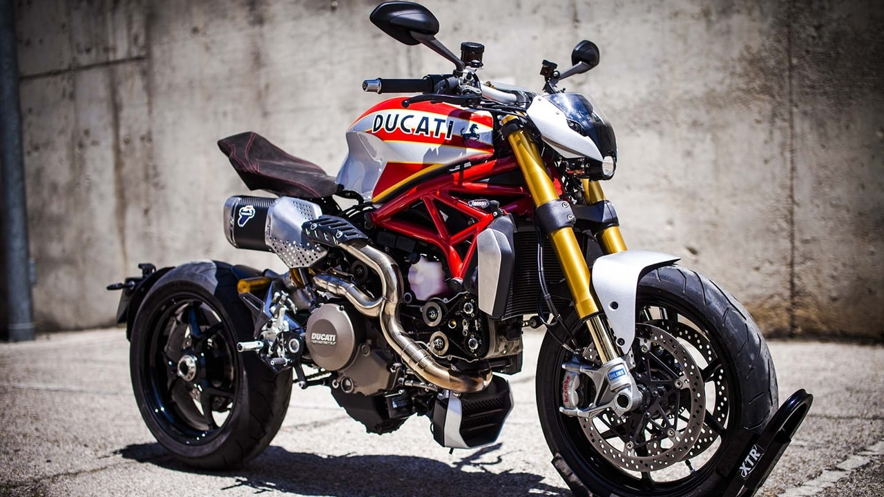 Ducati monster custom modified