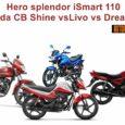 Hero splendor iSmart 110 vs Honda CB Shine vs Livo vs Dream Yuga