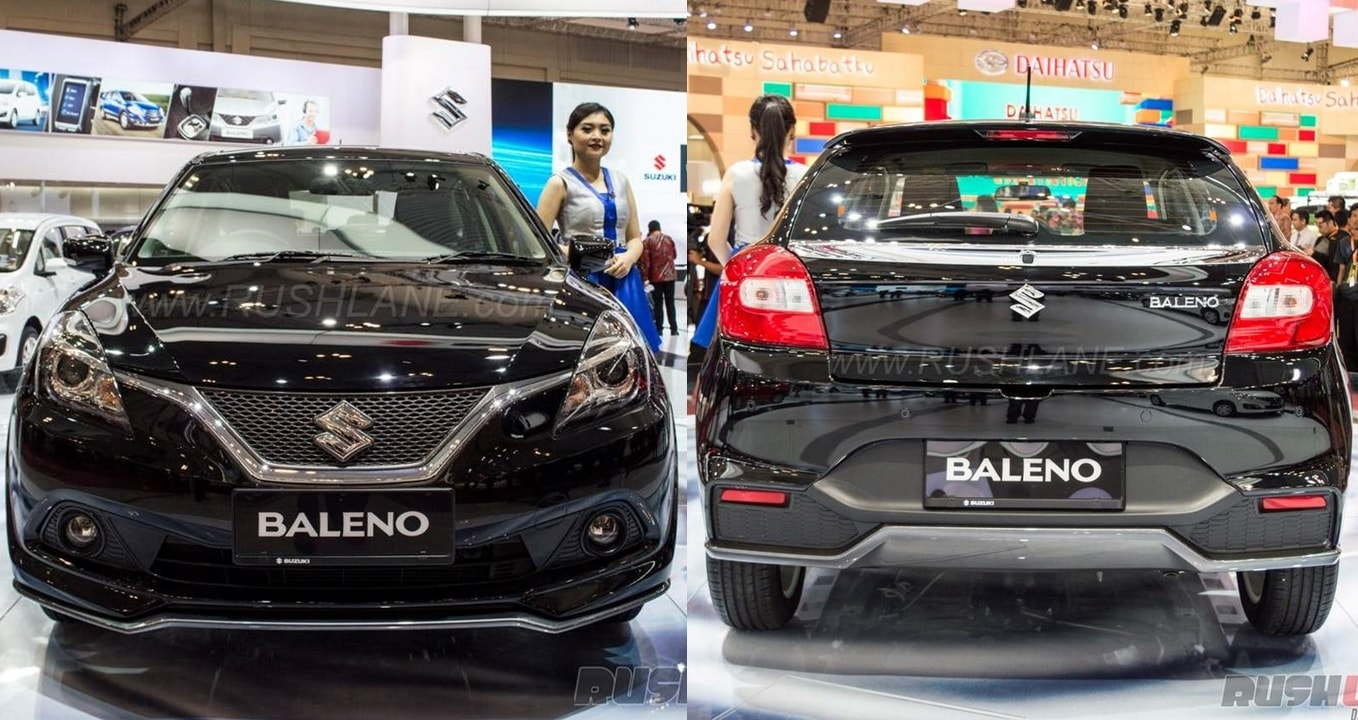 custom black maruti baleno elite i20 with body kit at