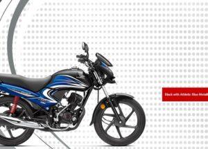Honda Dream Yuga Black with Athletic Blue Metallic