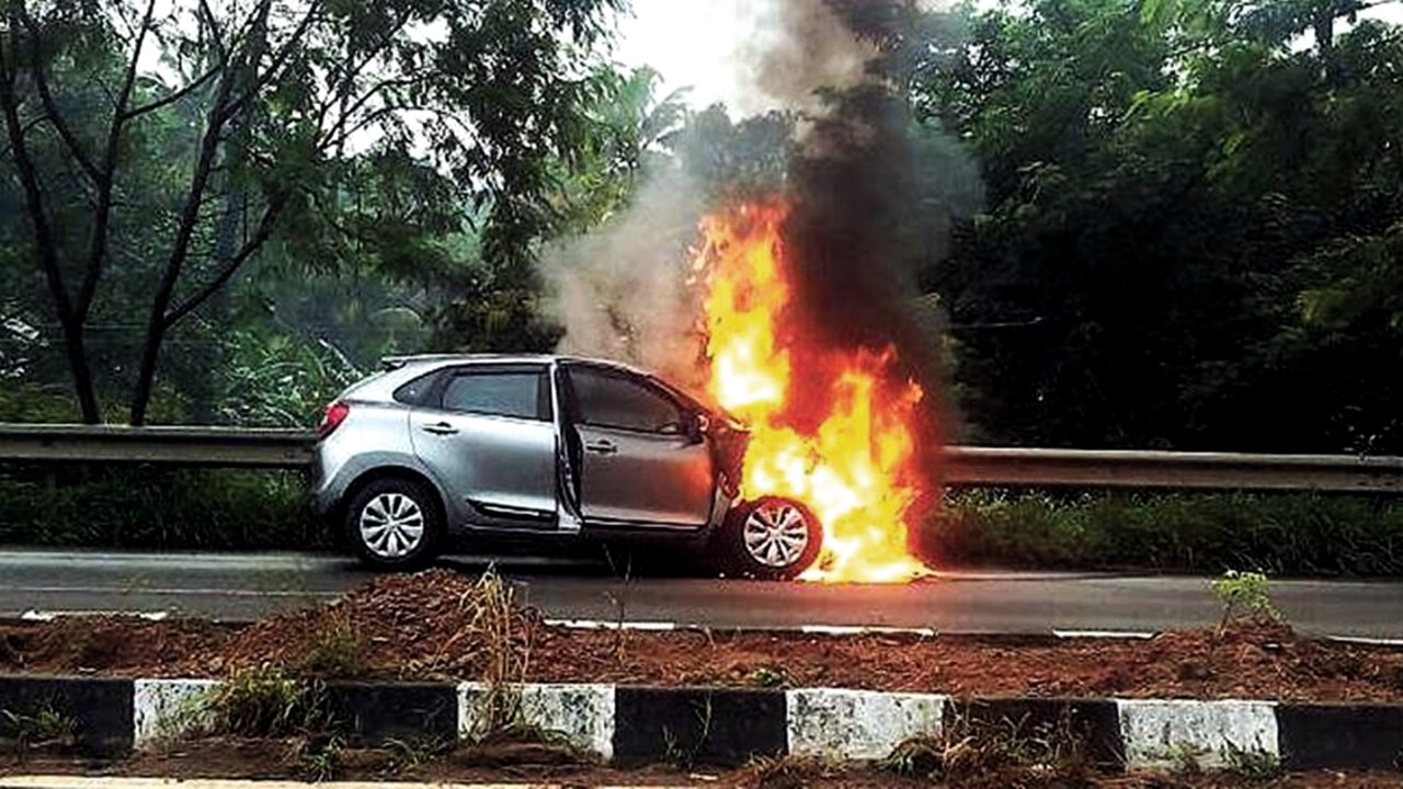 Maruti Baleno catch fire