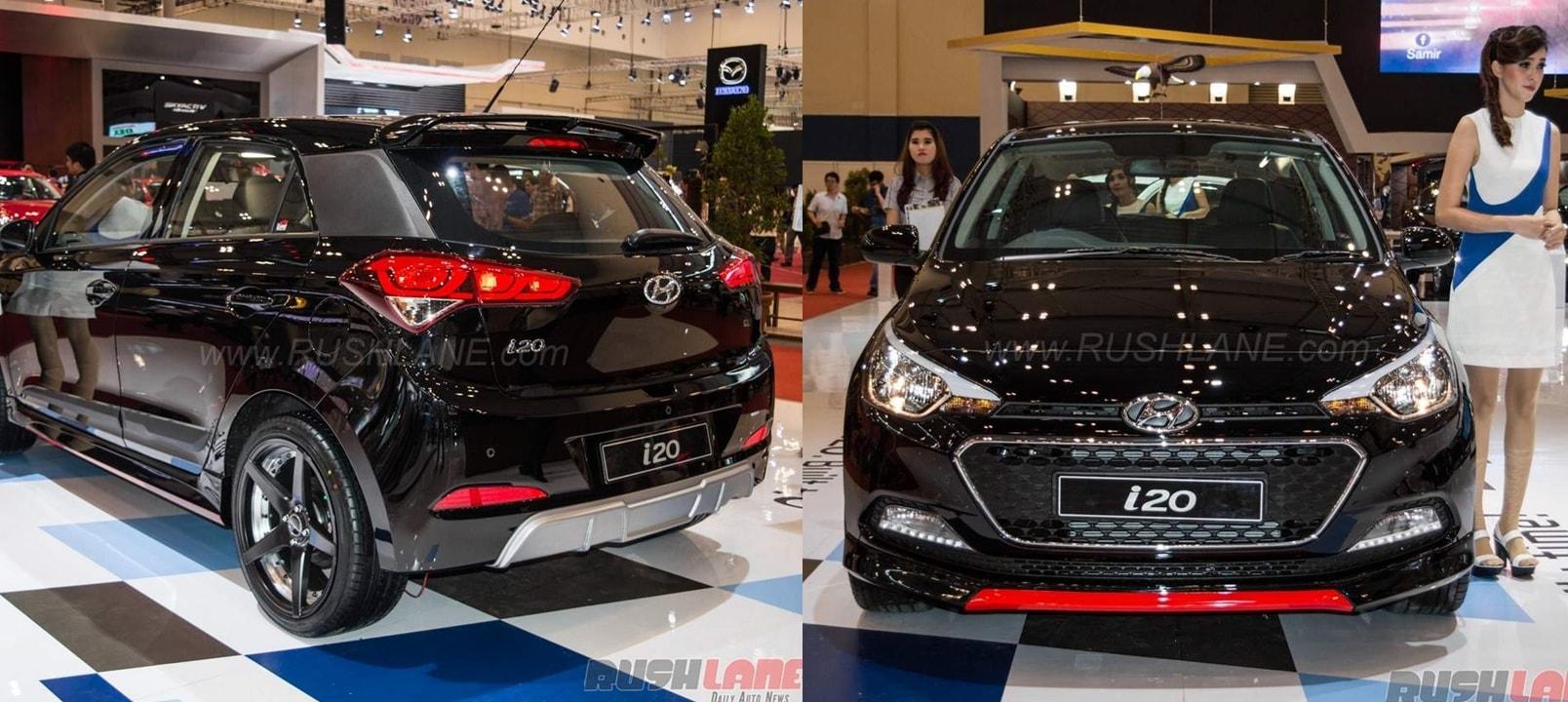 Phantom black Hyundai Elite i20 sport