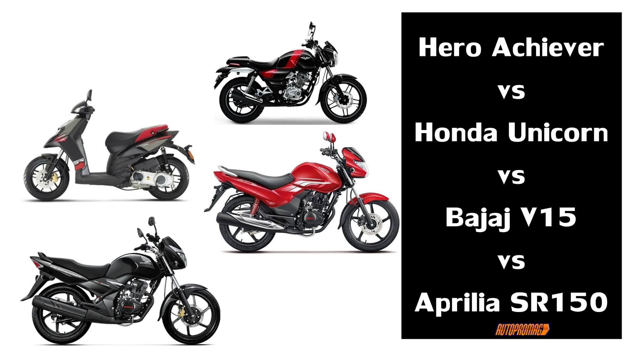 Hero Achiever vs Honda Unicorn