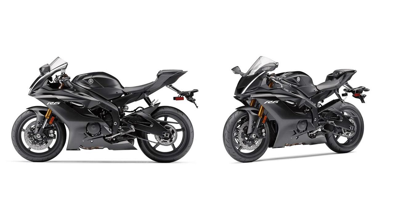 Black Yamaha R6 2017