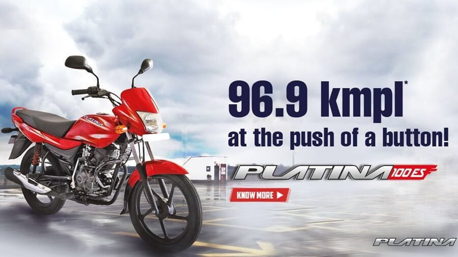platina 100es most milaege bikes in India