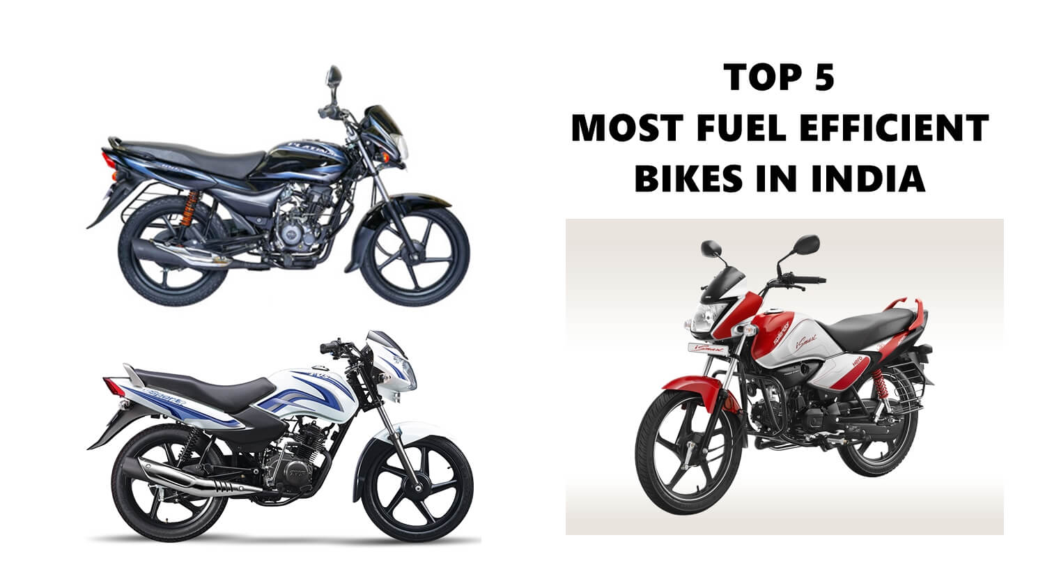 Most fuel efficient bikes in India