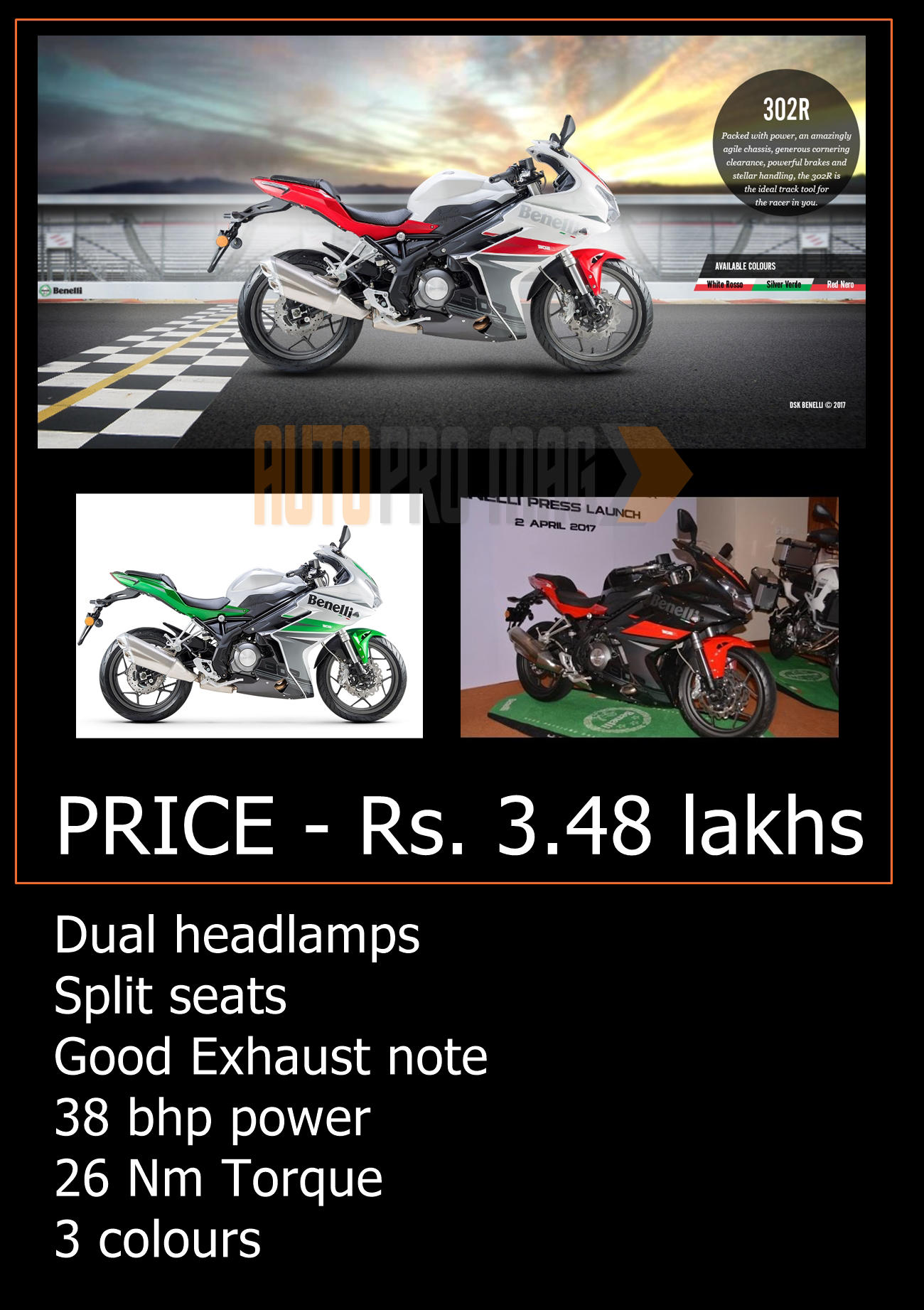 Benelli 302r launched news