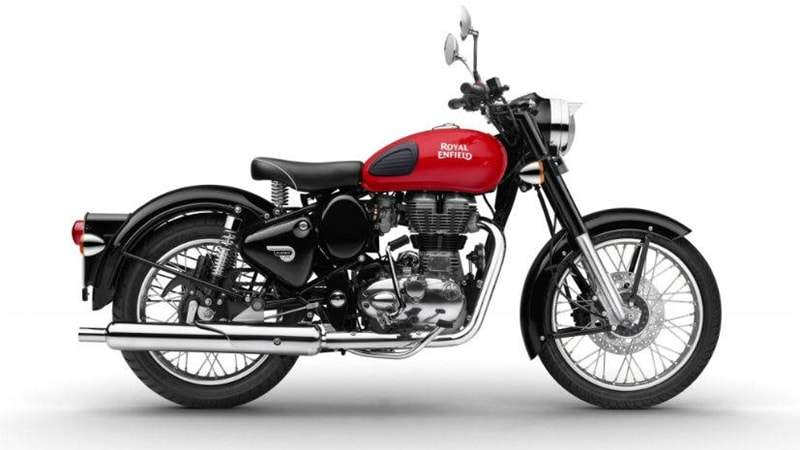 Royal Enfield Redditch red