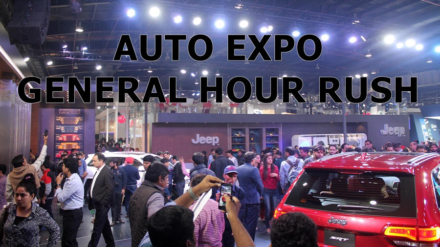 Auto Expo 2018 busy