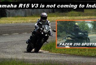 Fazer 250 vs R15
