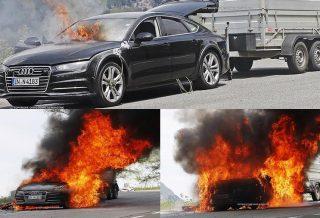 2019 Audi A7 on fire