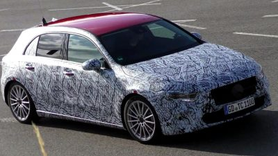 The Mercedes A-Class spied