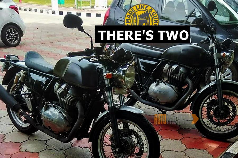two Royal Enfield 750 bikes