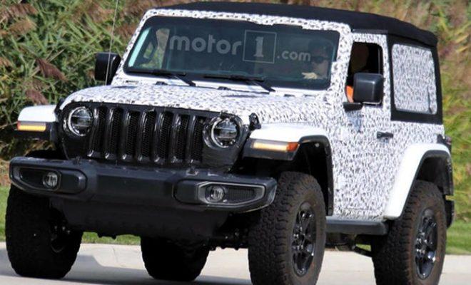 2018 Jeep Wrangler 2 door soft top