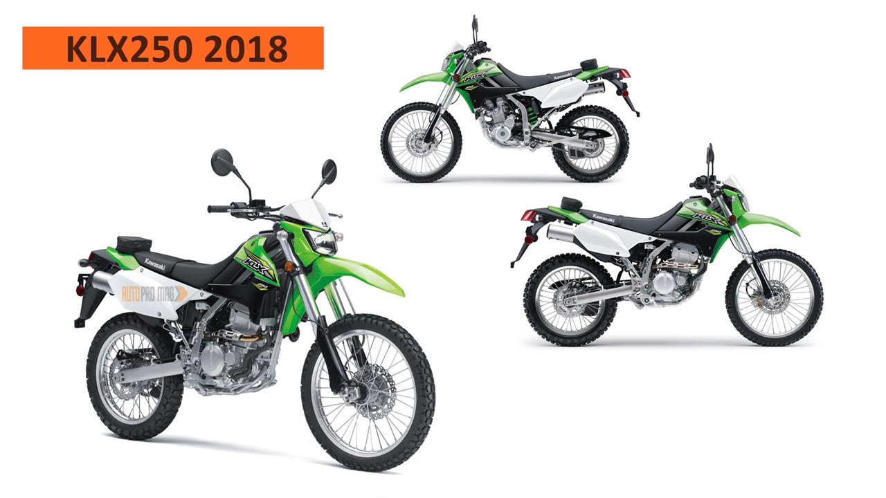 new kawasaki klx250 2018 revealed price release date specs apm. Black Bedroom Furniture Sets. Home Design Ideas