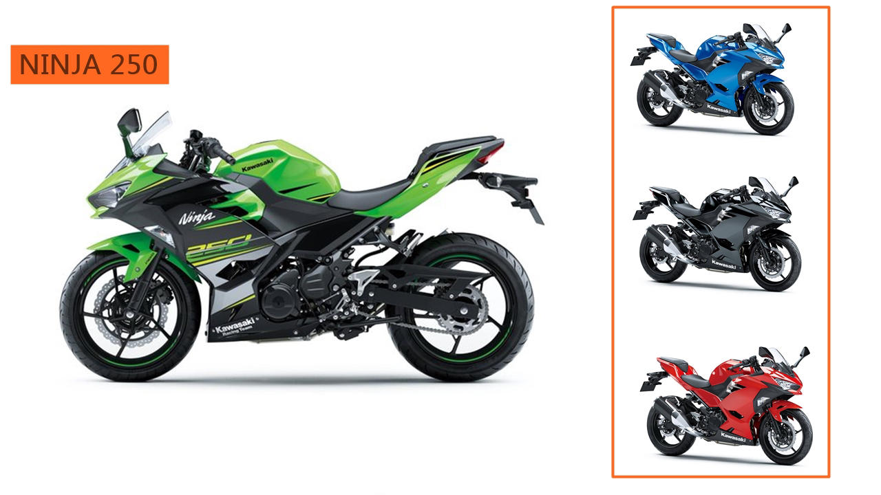 2018 Kawasaki Ninja 250 colours