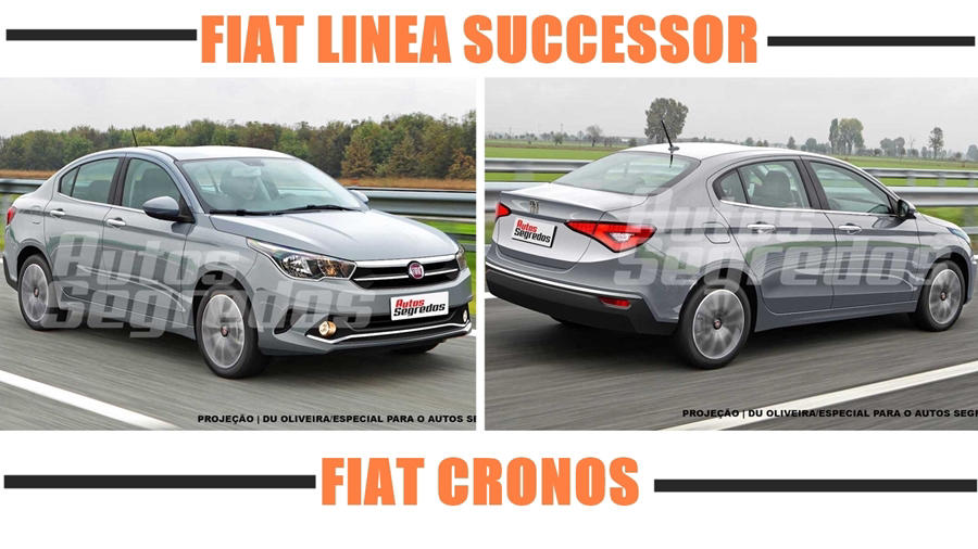 New Fiat Cronos front and rear
