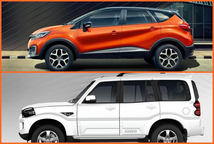 Mahindra Scorpio facelift vs Renault Captur side
