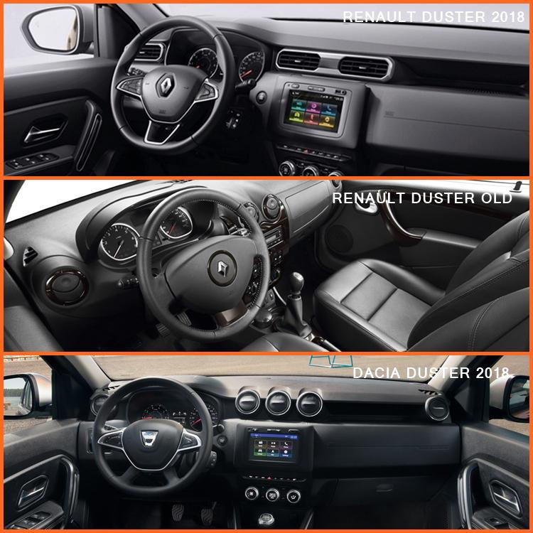 Renault Duster 2018 interior comparison