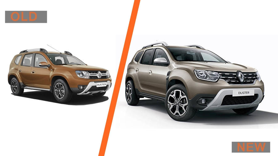 Renault Duster 2018 old vs new