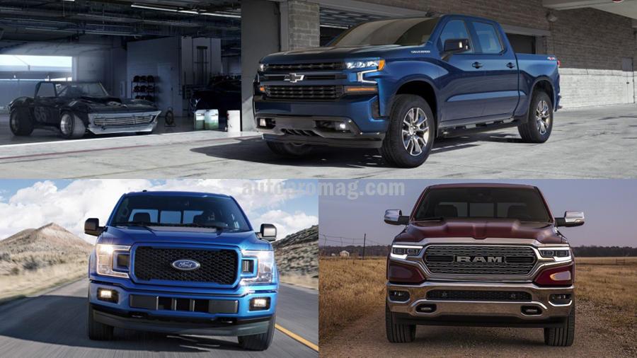 2019 chevrolet silverado vs ford f 150 vs 2019 ram 1500 autopromag. Black Bedroom Furniture Sets. Home Design Ideas