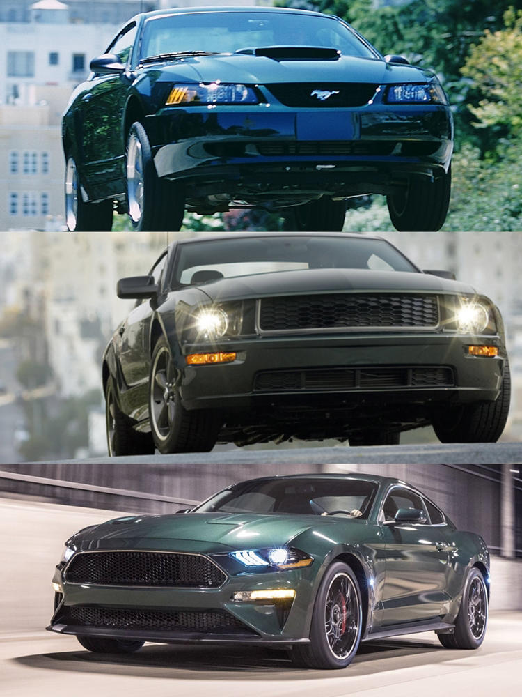 Ford Mustang Bullit 2001 vs 2009 vs 2019