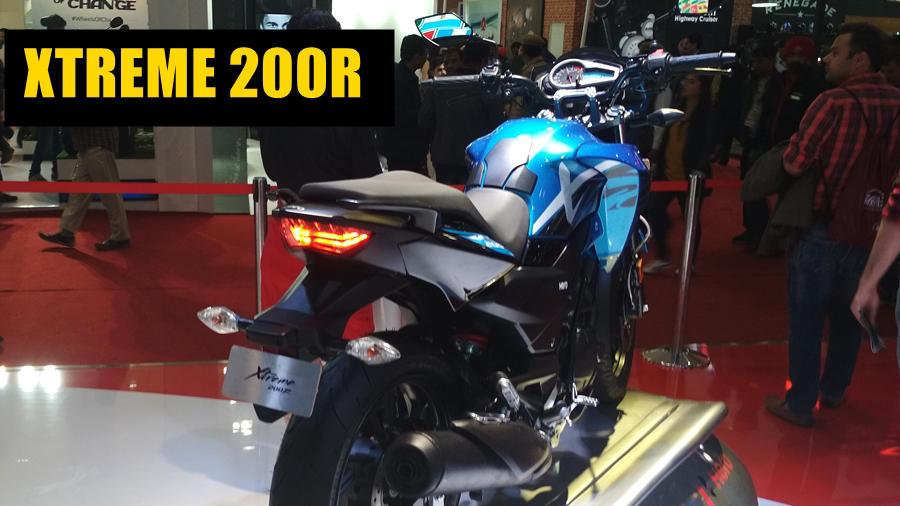 Hero Xtreme 200R blue rear