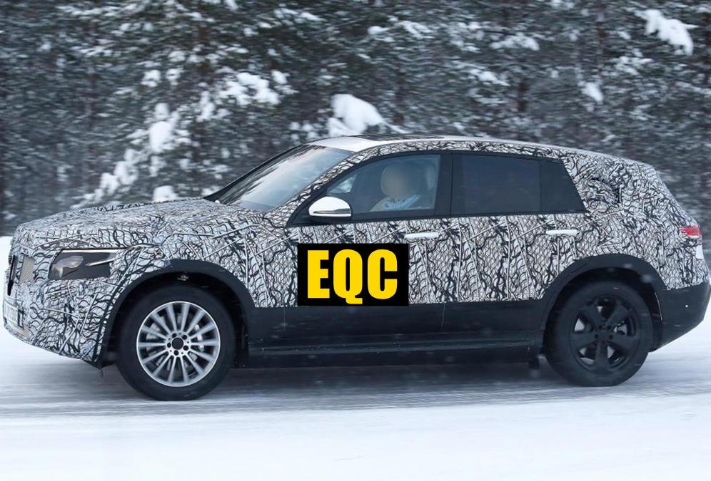Mercedes EQC spied
