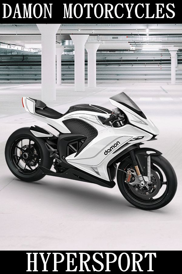 white electric superbike side
