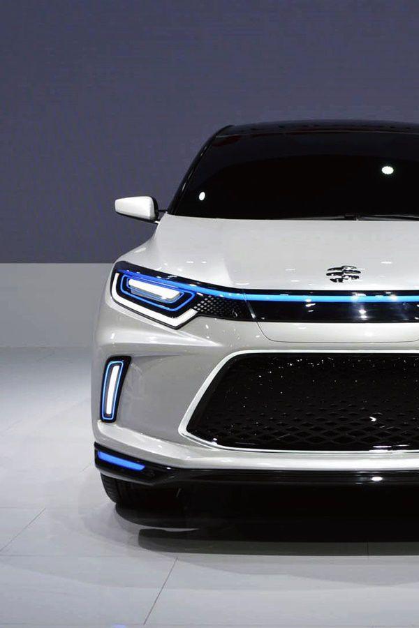 Honda GM white and blue EV crossover