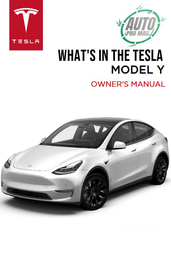 white model y crossover's owners manual