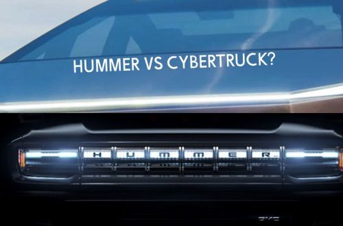 GMC Hummer vs Tesla Cybertruck headlights