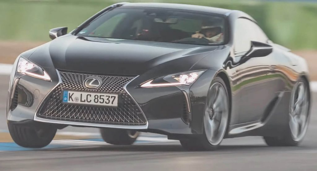 Lexus LC500 Fights The Clock At The Hockenheim GP, Comes Behind The Jaguar F-Type P450