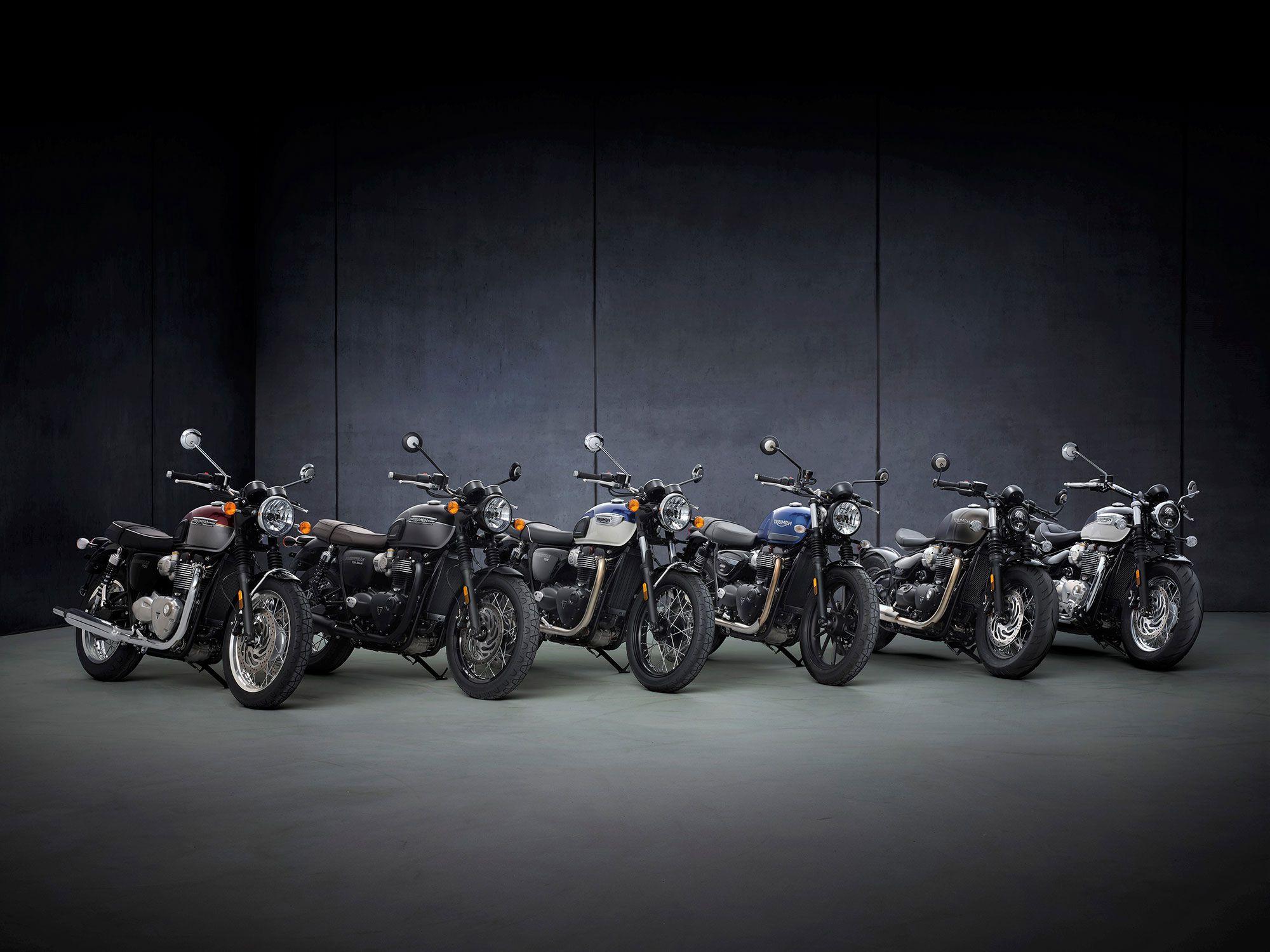 Triumph Bonneville Series Updated for 2022