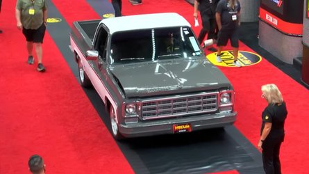 Doh! Old Chevy C10 Pickup At Mecum Gets Bent Hood Just Before Auction