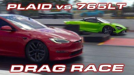 Tesla Model S Plaid Vs McLaren 765LT: The Ultimate 1/4-Mile Race