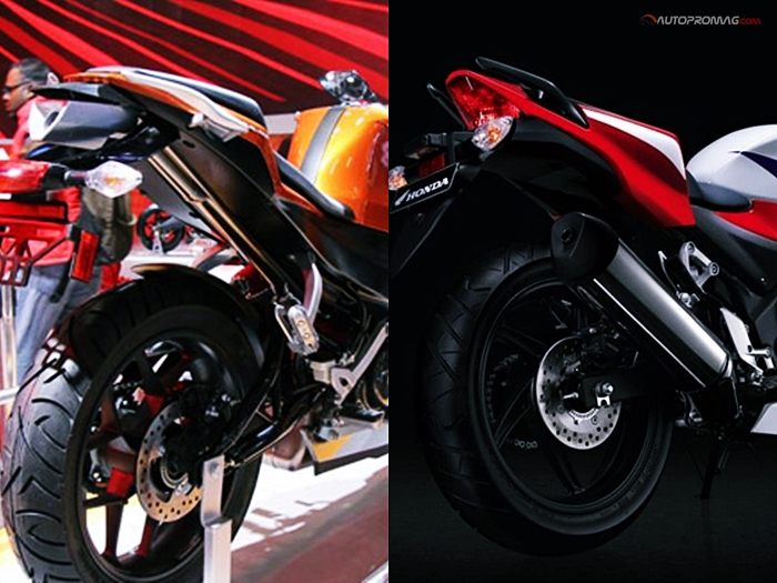 hx 250r vs cbr 250 rear