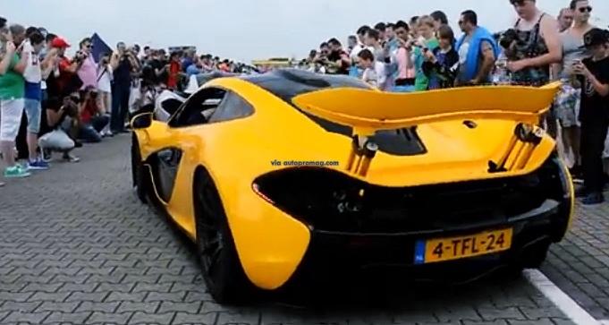 yellow mclaren p1