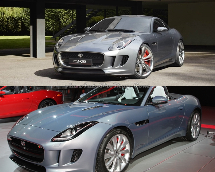 jaguar c-x16 vs f type