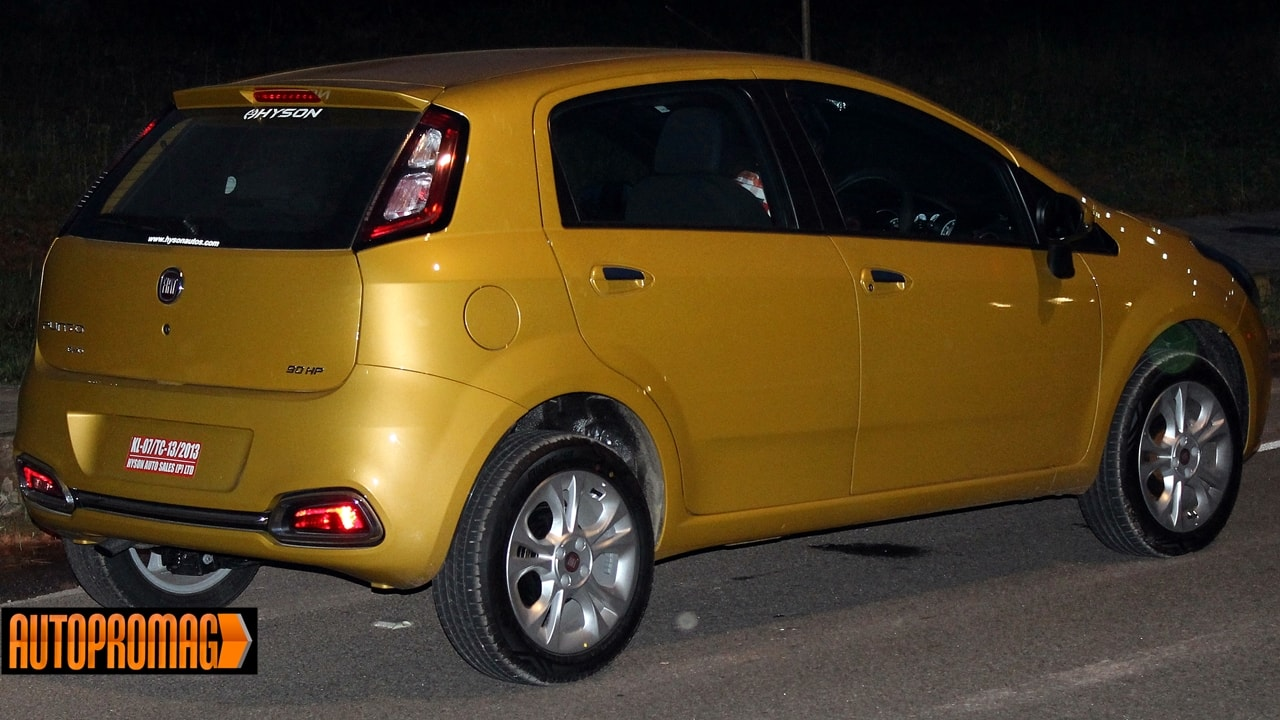 Fiat punto Evo test drive night