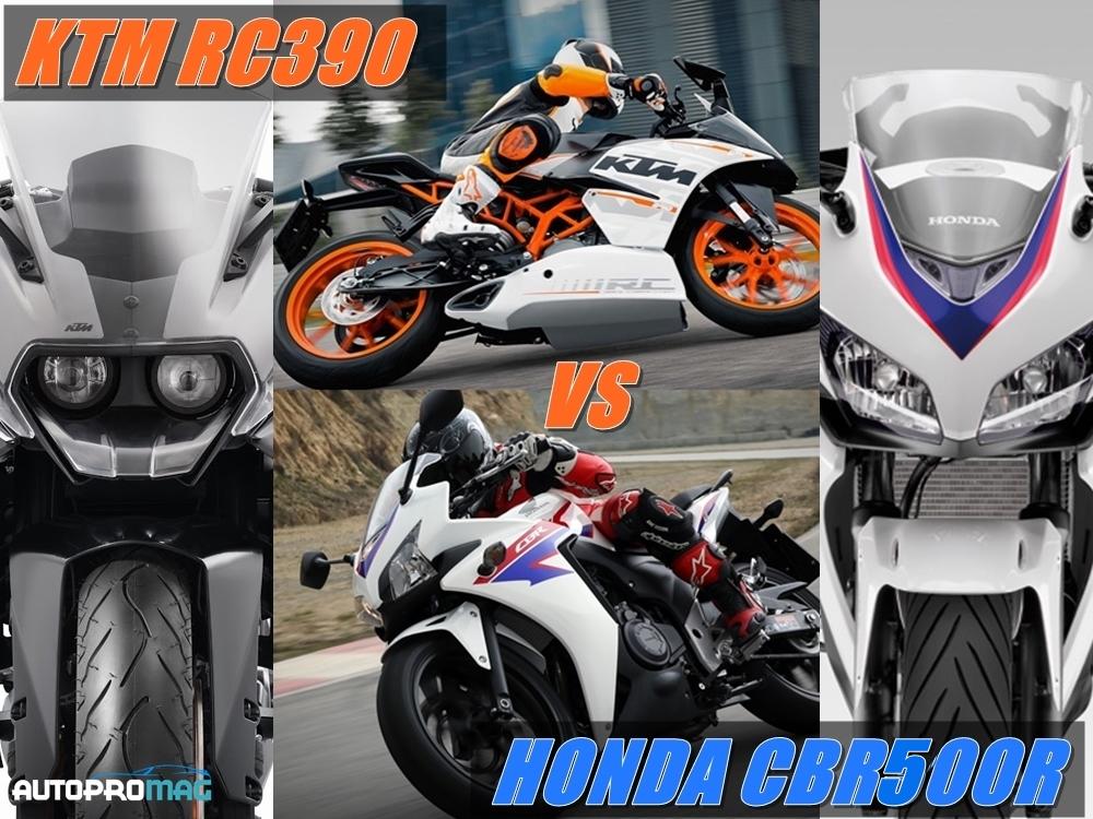 cbr500r vs ktm RC390 compare