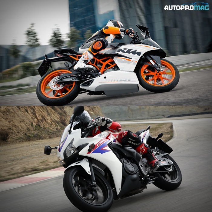 rc390 and cbr500r