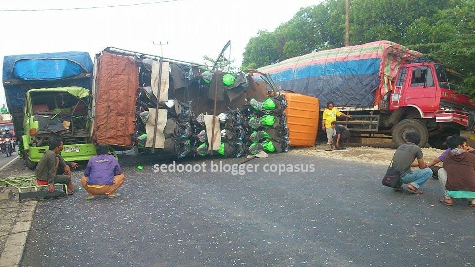 ninja truck falls indonesia